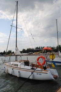 Яхта в Черном море