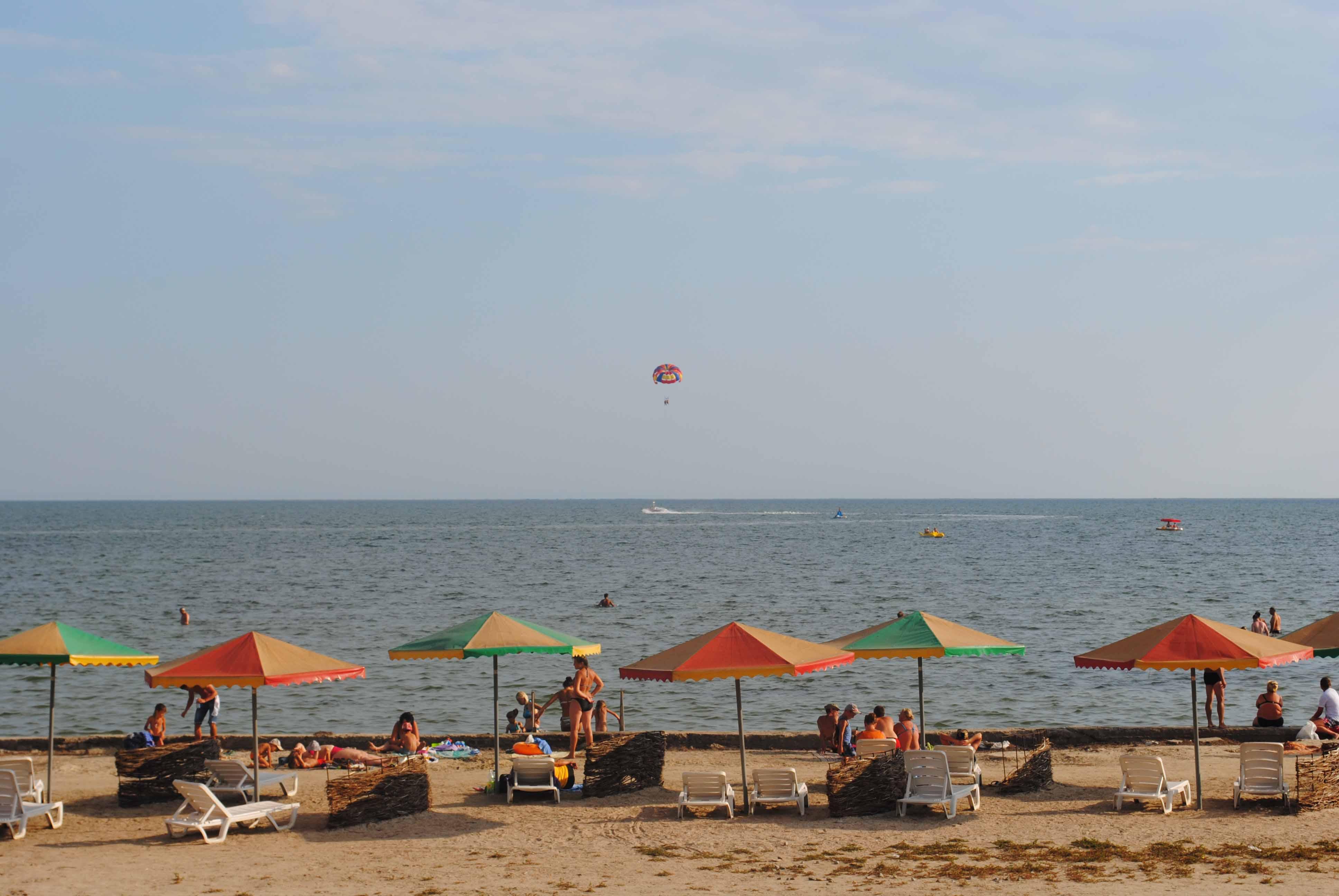 Пляж вблизи частного дома Бриз